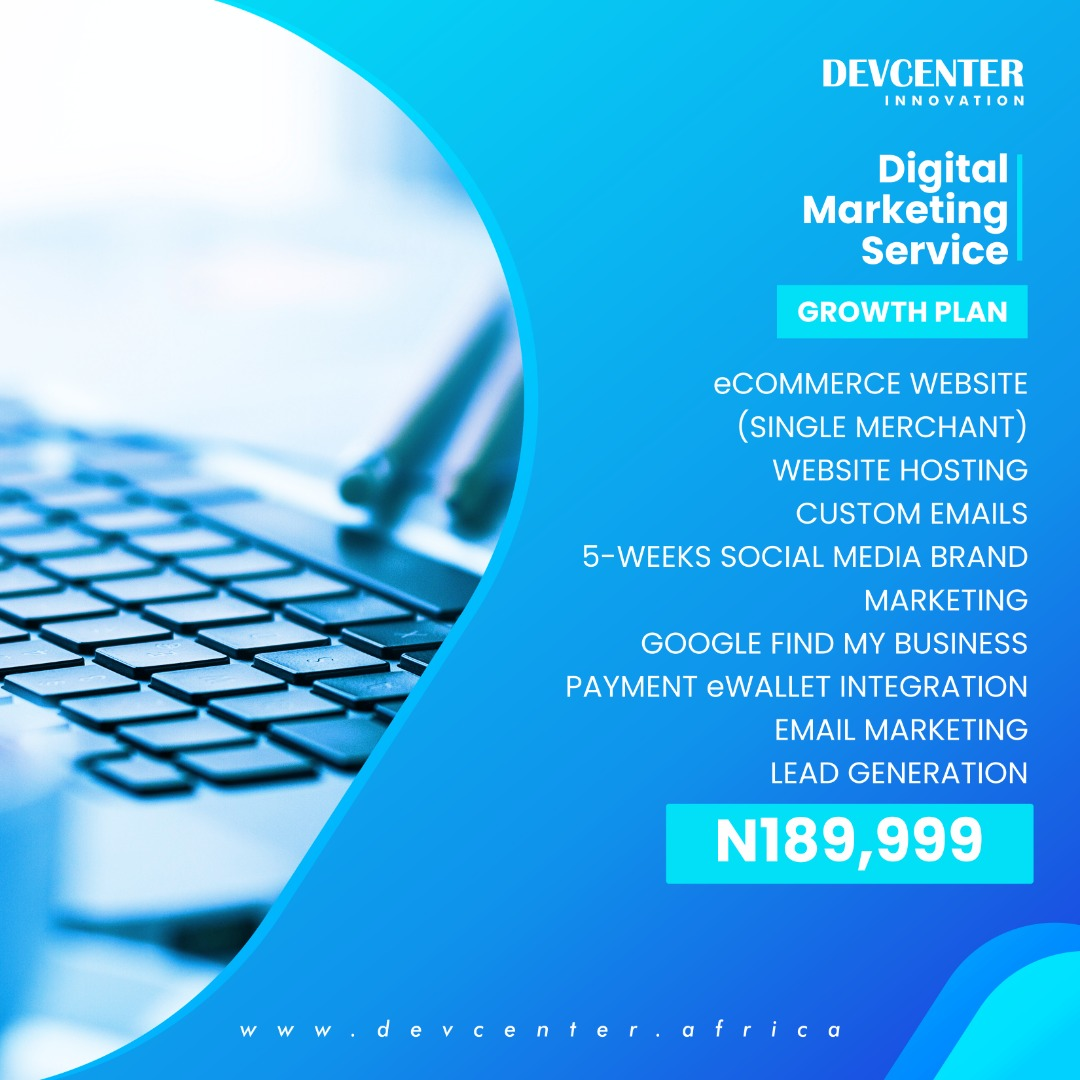 Plan 3: Growth Plan just for ₦186,000